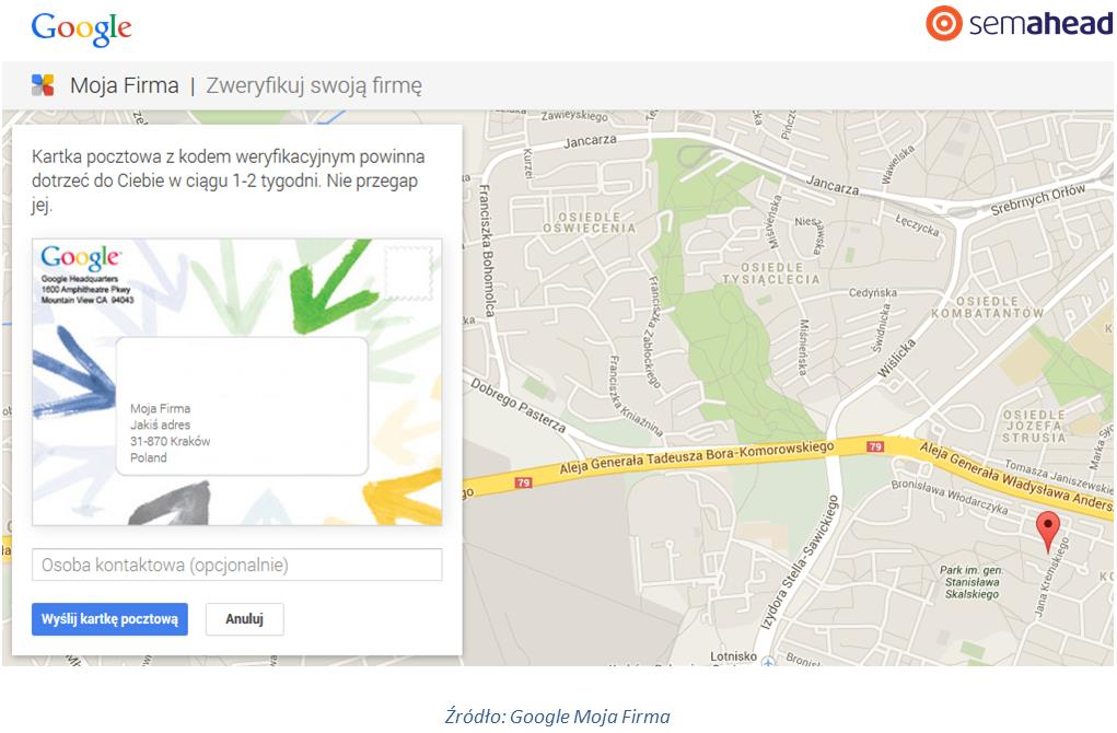 Pocztówka Google