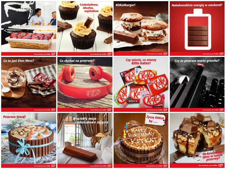 Pasek KitKat - wiele zdjęć