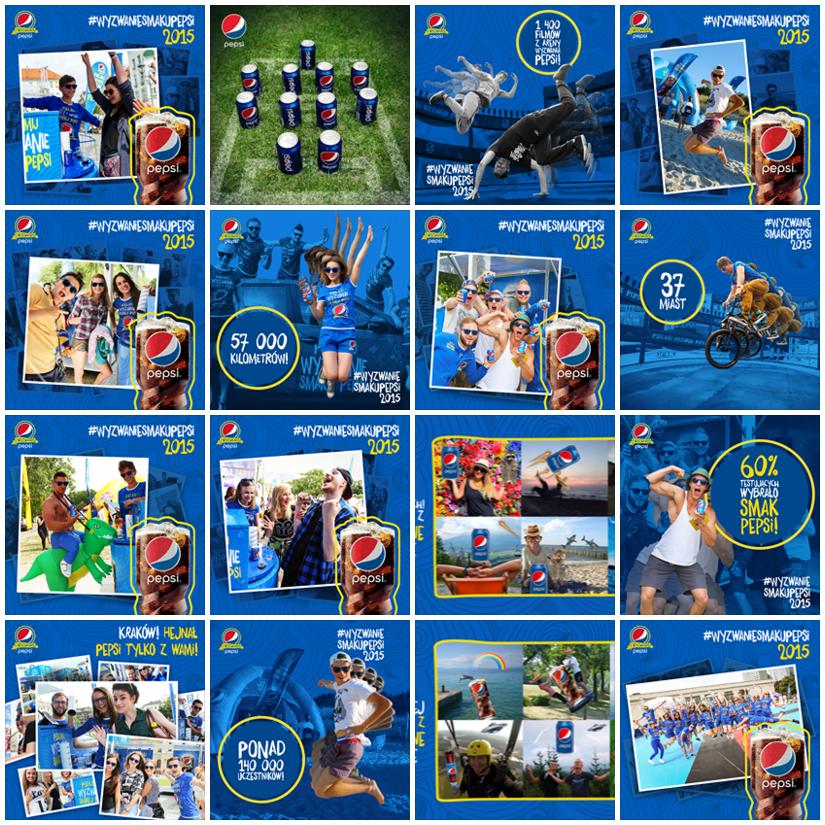 Spójna galeria zdjęć - Pepsi