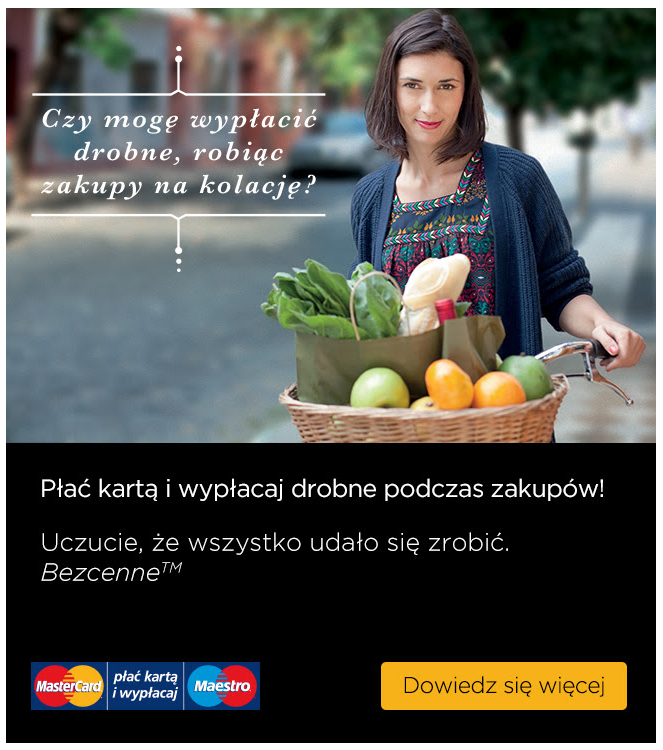 Reklama Mastercard wGSP