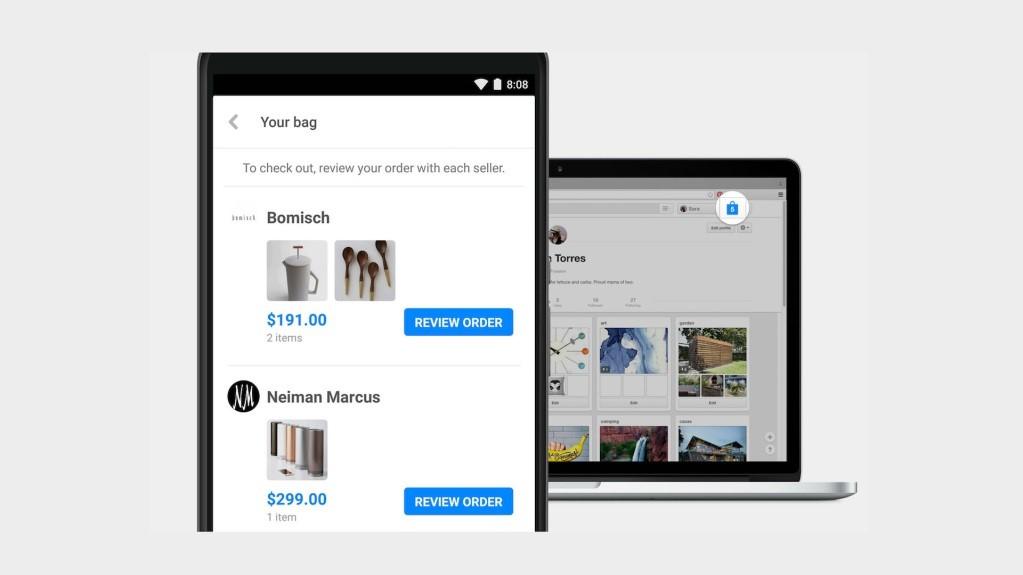 wyszukiwanie i zakup produktów na Pinterest