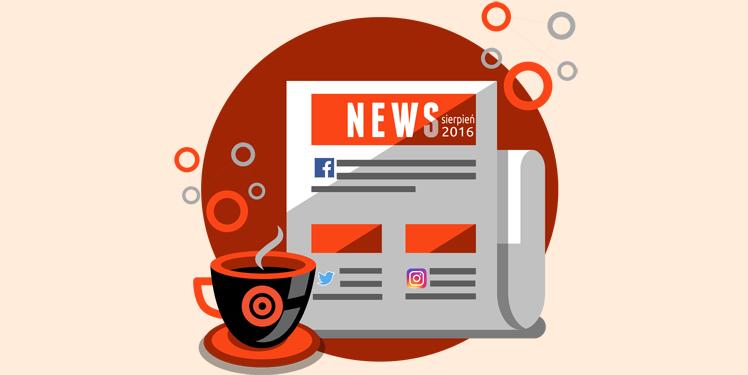 Nowości w social media sierpień