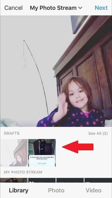 Drafty na Instagramie