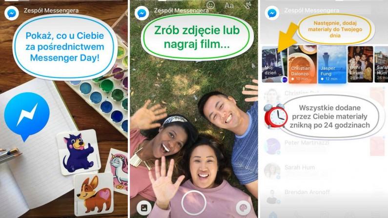 Nowa funkcja - Messenger Day