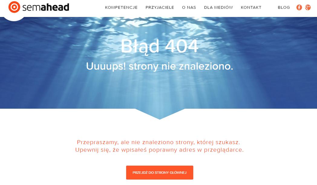 błąd 404 semahead