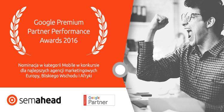 Semahead w finale konkursu Google Premier Partner Awards 2016
