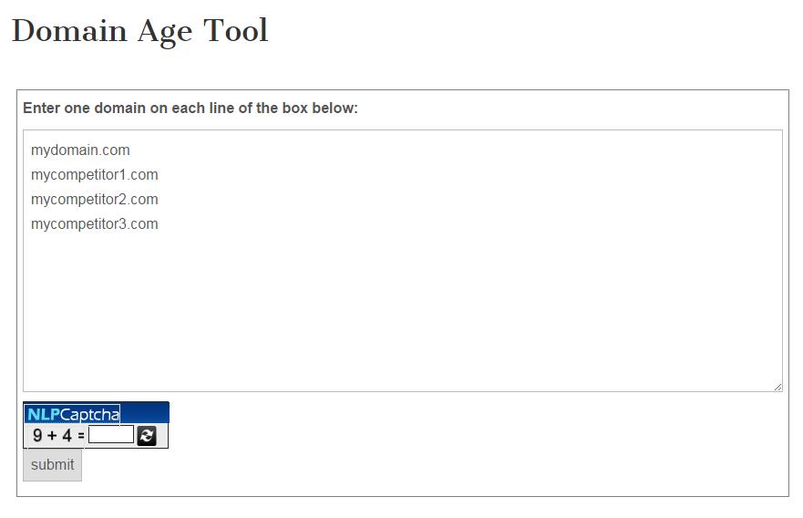 domain-age-tool