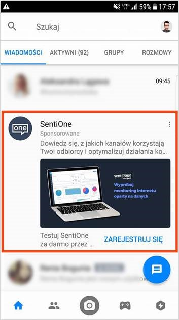 Messenger kampanie reklamowe