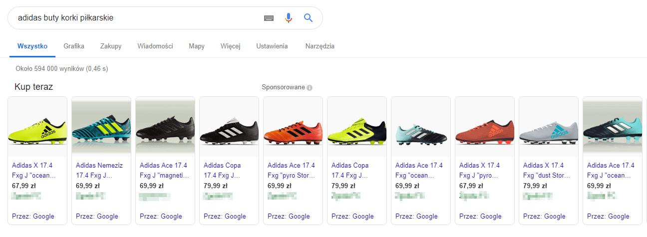 oferta sprzedażowa google