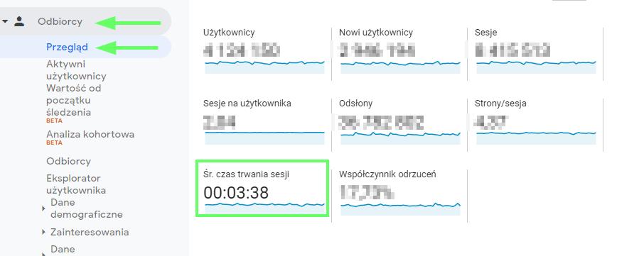 Google Analytics grafika