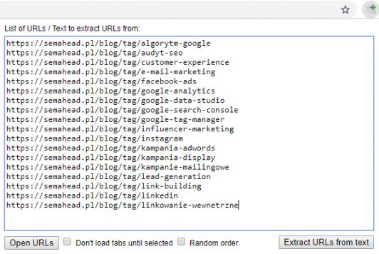 Open Multiple URLs